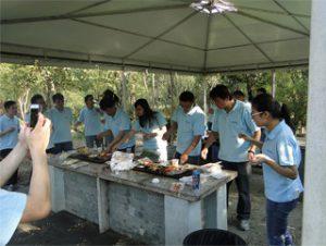 BBQ v parku Gucun, podzim 2014