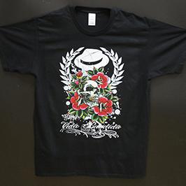 Černobílý vzorek pro tisk trička pomocí digitální textilní tiskárny A1 WER-EP6090T