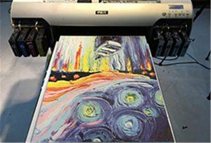 Vzorek plátna z tiskárny A2 UV WER-EH4880UV