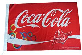 Vlajkový plátnový štítek vytištěný eco solventní tiskárnou WER-ES160 s ploškou 1,6m 3
