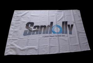 Flag Cloth banner tištěný eco solventní tiskárnou WER-ES160 o rozměrech 1,6m (5 stop)