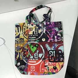 Vzorek tisku netkané tašky pomocí digitální textilní tiskárny A1 WER-EP6090T