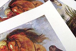Olejové plátno vytištěné pomocí tiskárny eco solvent WER-ES2501 2,5m (8 stop)