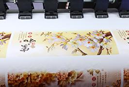 Samolepící vinyl vytištěný tiskárnou eco solvent WER-ES1802 o průměru 1,8 m